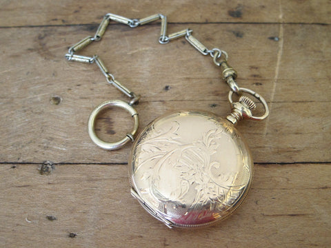WCTU Waltham Ladies Full Hunter Pocket Watch 1907 - Yesteryear Essentials  - 1