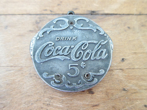 Vintage Coca Cola Advertising Cigar Cutter Pocket Knife - Yesteryear Essentials  - 1