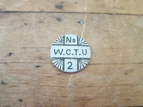 Temperance Movement Silver Coin -  1887 WCTU No. 2 Liberty Dime - Yesteryear Essentials  - 1