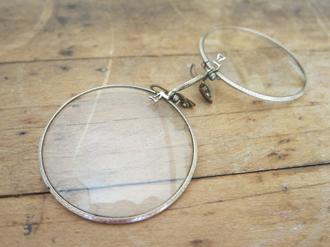 a9f529f1b25 Antique Pince Nez Glasses - 12k Gold Filled - Shuron Spectacles -  Yesteryear Essentials - 1
