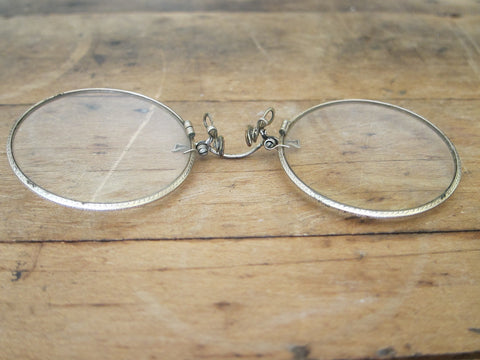 c01406c88ff ... Antique Pince Nez Glasses - 12k Gold Filled - Shuron Spectacles -  Yesteryear Essentials - ...