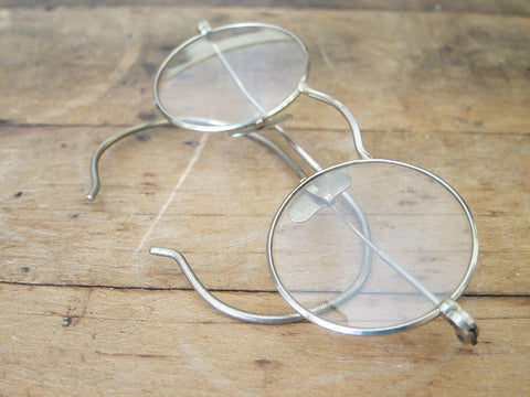 Antique 1920's Metal Rimmed Spectacles - Yesteryear Essentials