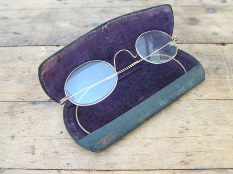 Antique Spectacles in Pope Optical Co Case - Yesteryear Essentials  - 1