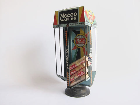 Vintage Necco Wafers Advertising Display Stand - Yesteryear Essentials  - 1