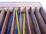 Vintage Blaisdell Pencils Counter Advertising Display Case - Yesteryear Essentials  - 4