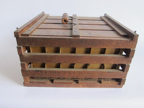 Antique Primitives Humpty Dumpty Wooden Egg Crate Carrier - Yesteryear Essentials  - 1