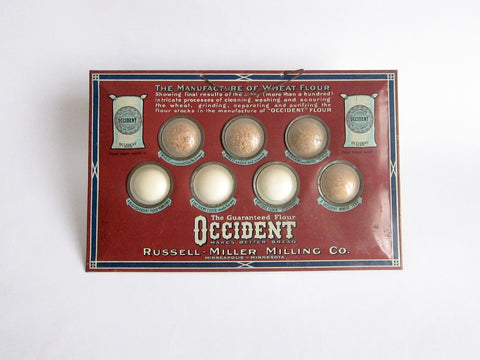 Vintage Advertising Occident Wheat Flour Store Display Russell Miller Milling Co - Yesteryear Essentials  - 1
