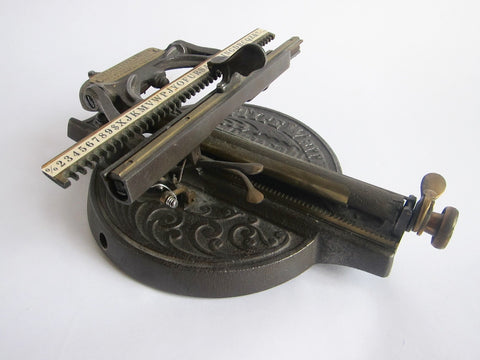 Antique O Dells Victorian Typewriter - Yesteryear Essentials  - 1