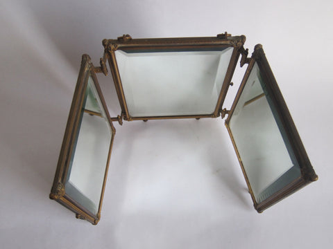 Antique Mirrors Tri Fold Mirrors Double Celluloid