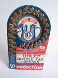 Vintage Advertising Tite Fit Bottle Caps Cardboard Store Display - Yesteryear Essentials  - 6
