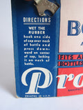 Vintage Advertising Tite Fit Bottle Caps Cardboard Store Display - Yesteryear Essentials  - 11