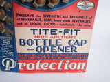 Vintage Advertising Tite Fit Bottle Caps Cardboard Store Display - Yesteryear Essentials  - 12