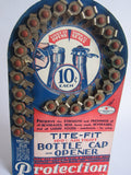 Vintage Advertising Tite Fit Bottle Caps Cardboard Store Display - Yesteryear Essentials  - 4