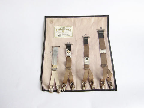 Vintage Gold Bond Hose Suspenders Store Wall Display - Yesteryear Essentials  - 1