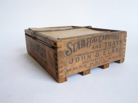 Antique Primitive Starr Egg Carrier - John G. Elbs, N.Y. - Yesteryear Essentials  - 1