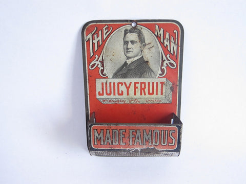 Vintage Advertising Wrigleys The Man Made Famous Match Holder - Yesteryear Essentials