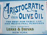 Vintage Advertising Aristocratic Virgin Olive Oil Metal Sign - Yesteryear Essentials  - 4