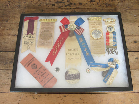 Temperance Movement Victorian Delegate Ribbons CTAU of A Ribbons Selection - Yesteryear Essentials  - 1