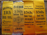 Antique Civil War Reunion Indianopolis Ribbons Display - Yesteryear Essentials  - 2