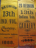 Antique Civil War Reunion Indianopolis Ribbons Display - Yesteryear Essentials  - 3