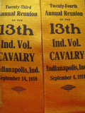 Antique Civil War Reunion Indianopolis Ribbons Display - Yesteryear Essentials  - 4