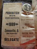 Group of 5 Ohio WCTU Prohibition Ribbons - Yesteryear Essentials  - 3