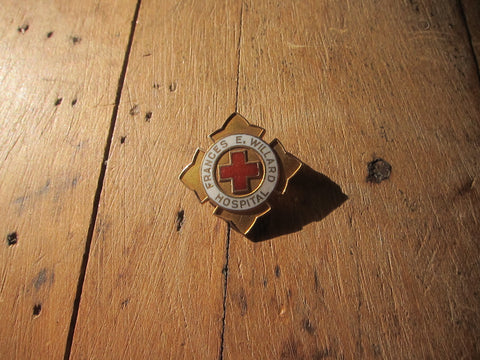 Temperance Movement Frances E Willard Hospital Enamel Pinback Button - Yesteryear Essentials  - 1