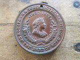 Queen Victoria Jubilee of the Band of Hope Movement Medallion - 1897 - Yesteryear Essentials  - 1