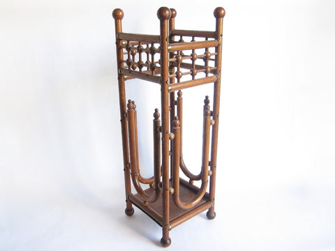 Victorian Stick and Ball Bentwood Umbrella Stand - Yesteryear Essentials  - 1