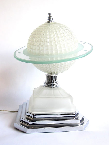 Art Deco Lamps 1930s Glass Saturn Table Lamp Yesteryear