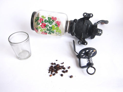 Antique Wall Mounted Crystal No.3 Coffee Grinder - Yesteryear Essentials  - 1