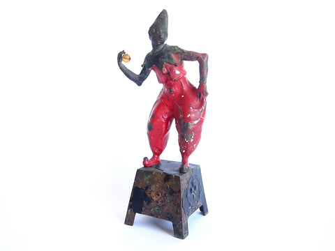 Antique French Bronze Harlequin Figurine - Yesteryear Essentials  - 1