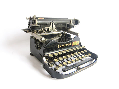 Antique Corona No 3 CorrespondentsTypewriter - Yesteryear Essentials  - 1