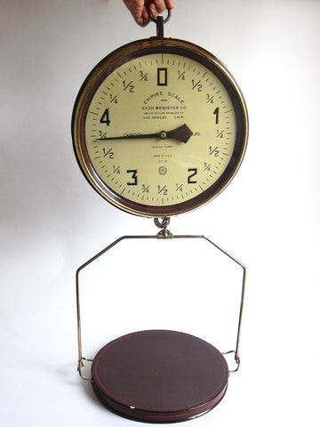 Antique Industrial Empire Scale and Cash Register Co 5lb Scale - Yesteryear Essentials  - 1