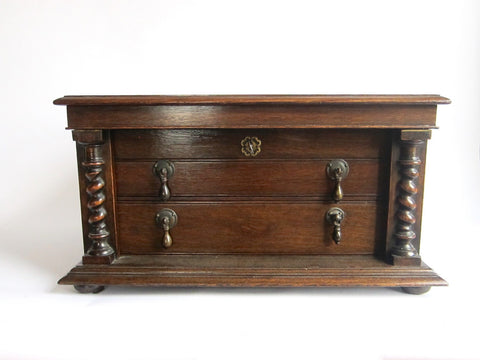 Antique Victorian Oak Silverware Chest - Yesteryear Essentials  - 1