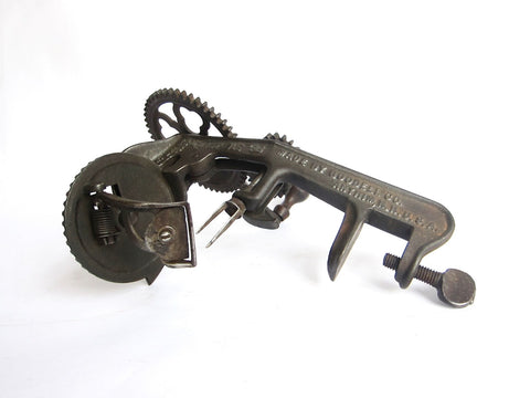 Primitive Antique Apple Peeler by Goodell Co, Antrim NH - Yesteryear Essentials  - 1