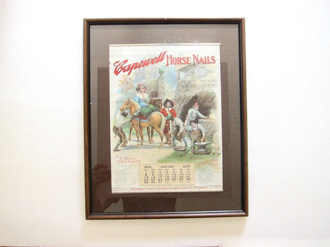 Vintage 1905 Advertising Calendar for Capewell Horse Nails - Yesteryear Essentials  - 1