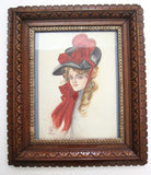 Vintage Fisher Girl Painting - Reva from The Ladies Journal - Yesteryear Essentials  - 10