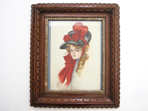 Vintage Fisher Girl Painting - Reva from The Ladies Journal - Yesteryear Essentials  - 1