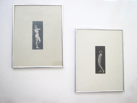 Pair of 1920s Albert Arthur Allen Silver Gelatin Framed Nude Photographs - Yesteryear Essentials  - 1