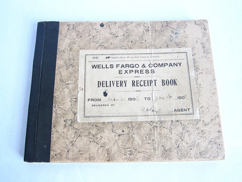 1908 Wells Fargo Express Delivery Receipt Book - Yesteryear Essentials  - 1