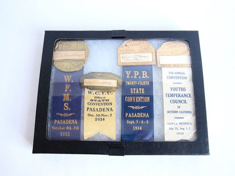 1930s California WCTU Ribbons - Yesteryear Essentials  - 1