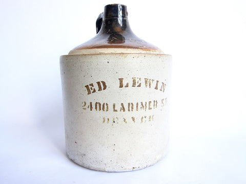 Early Ed Lewin Denver Whiskey Jar - Yesteryear Essentials  - 1
