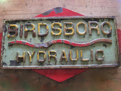 Aviation Birdsboro Hydraulic PA Iron Sign - Yesteryear Essentials  - 1