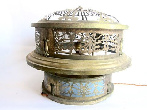 Vintage Brass Round Ceiling Chandelier - Yesteryear Essentials  - 1