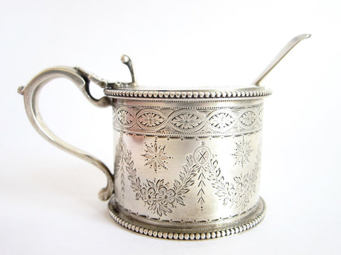 Antique Sterling Silver Mustard Pot - Yesteryear Essentials  - 1