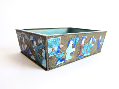 1920s Chinese Cloisonne Bonsai Planter - Yesteryear Essentials  - 1