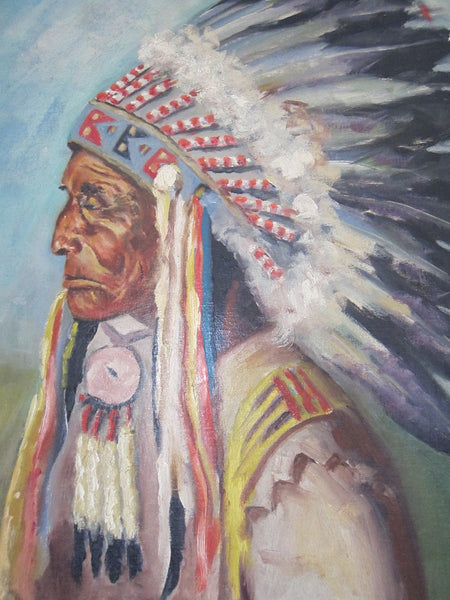 Oil Paintings Oil On Canvas Indian Chief Painting
