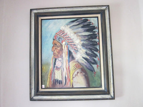 Lakota Indian Chief Oil Painting -  Red Cloud - Yesteryear Essentials  - 1