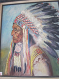 Lakota Indian Chief Oil Painting -  Red Cloud - Yesteryear Essentials  - 4